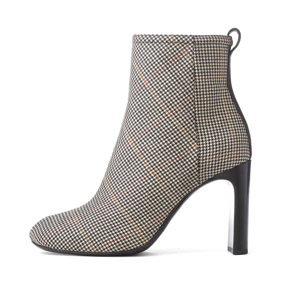 Fashion houndstooth patterns winter high heel office ladies ankle boot YH1212