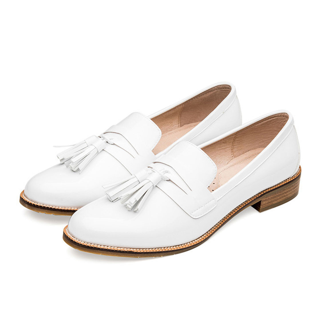 white casual flat women shoes China factory ladies flat shoes YH1223