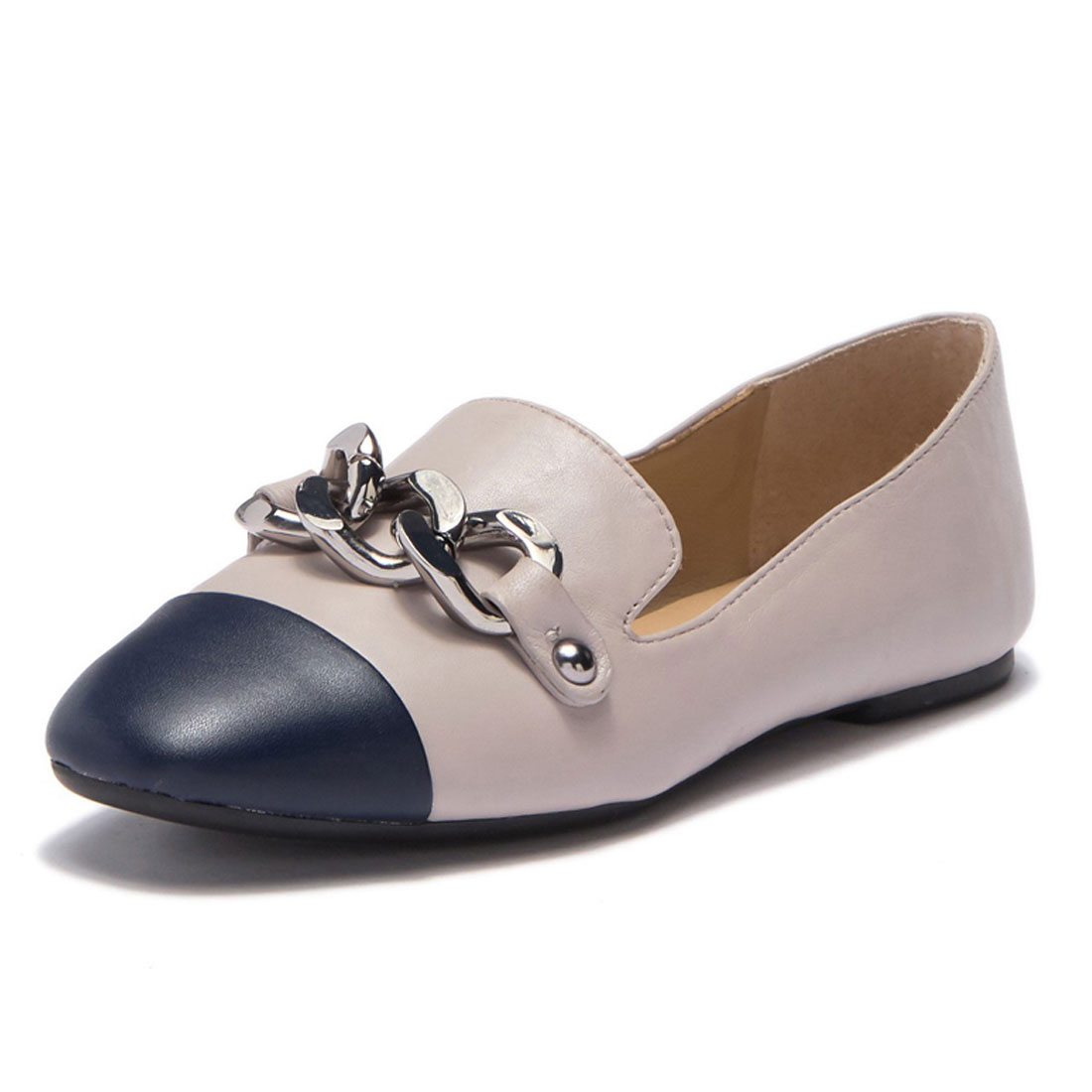 Your Own Brand High Quality Genuine Leather Casual Ladies Flat Shoes CS9244